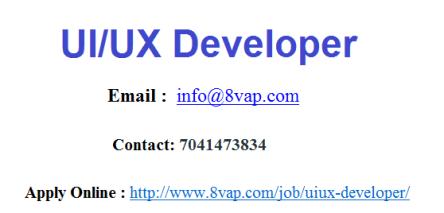 UI UX Developer
